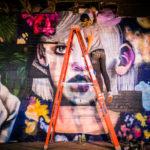 Elle Ladder Graffiti Action