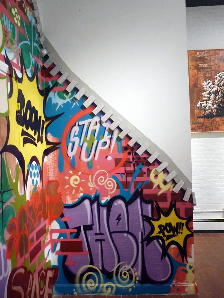 Interactive Zipper Graffiti Installation