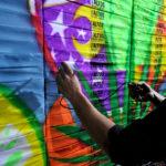 New York Live Airbrush Graffiti Mural