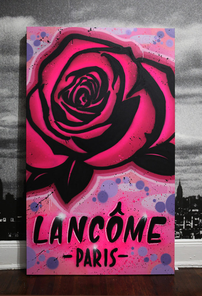 Lancome Rose Graffiti Canvas