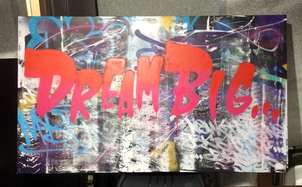 Dream Big Graffiti Canvas