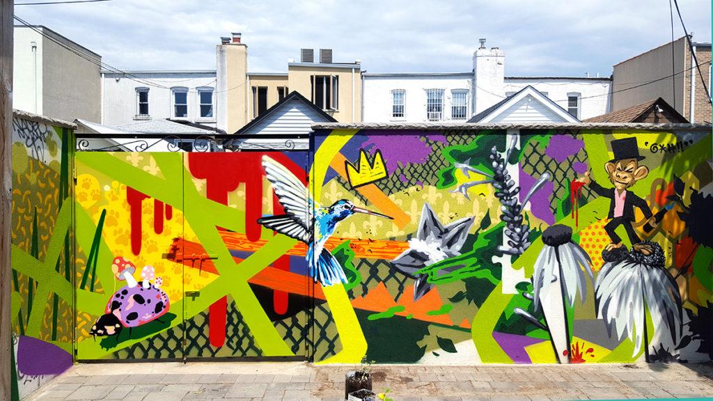 Backyard Residential Mural