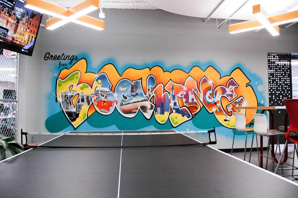 Mural in Chicago Office