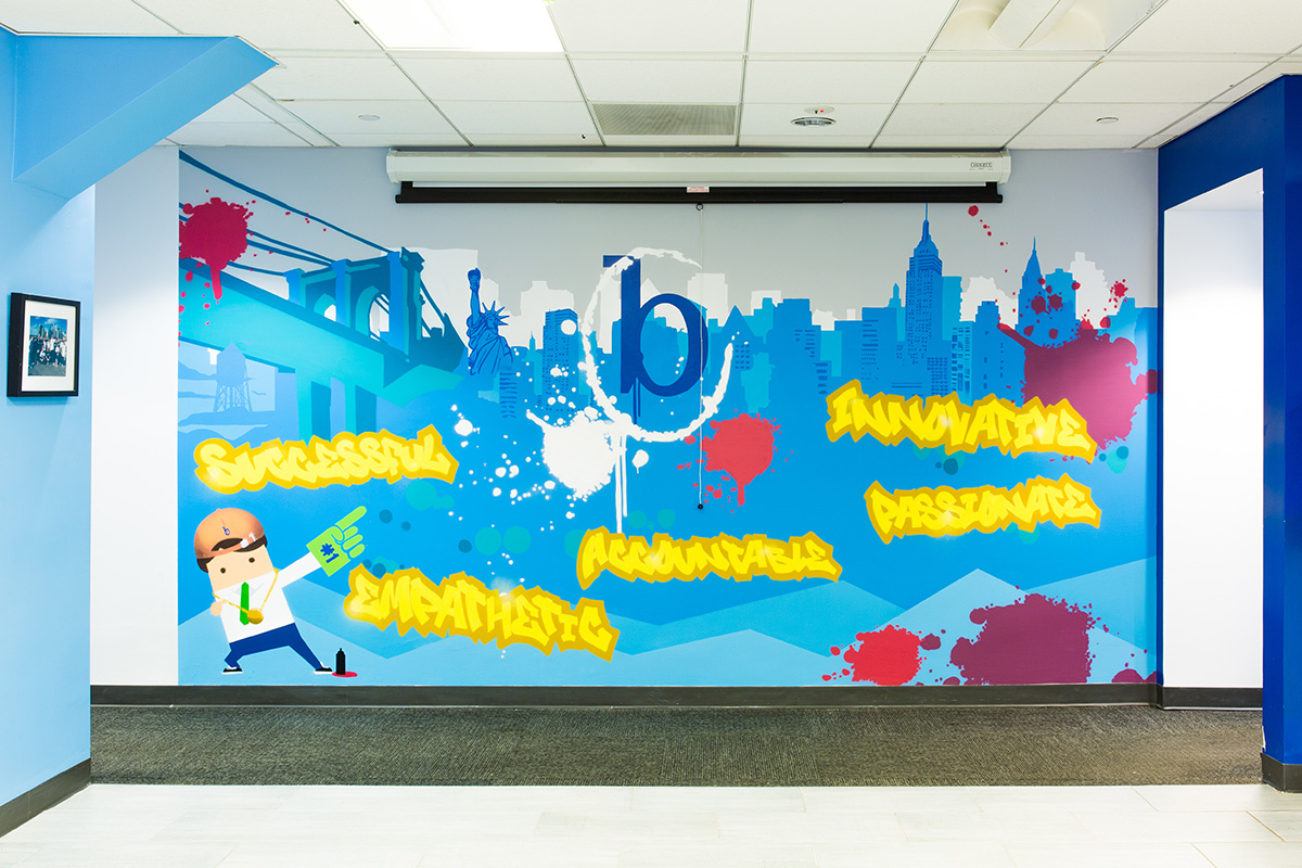 office graffiti mural for in nyc graffiti usa