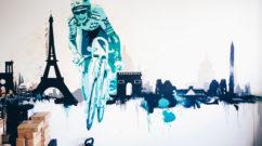 Minimal Street Art Mural