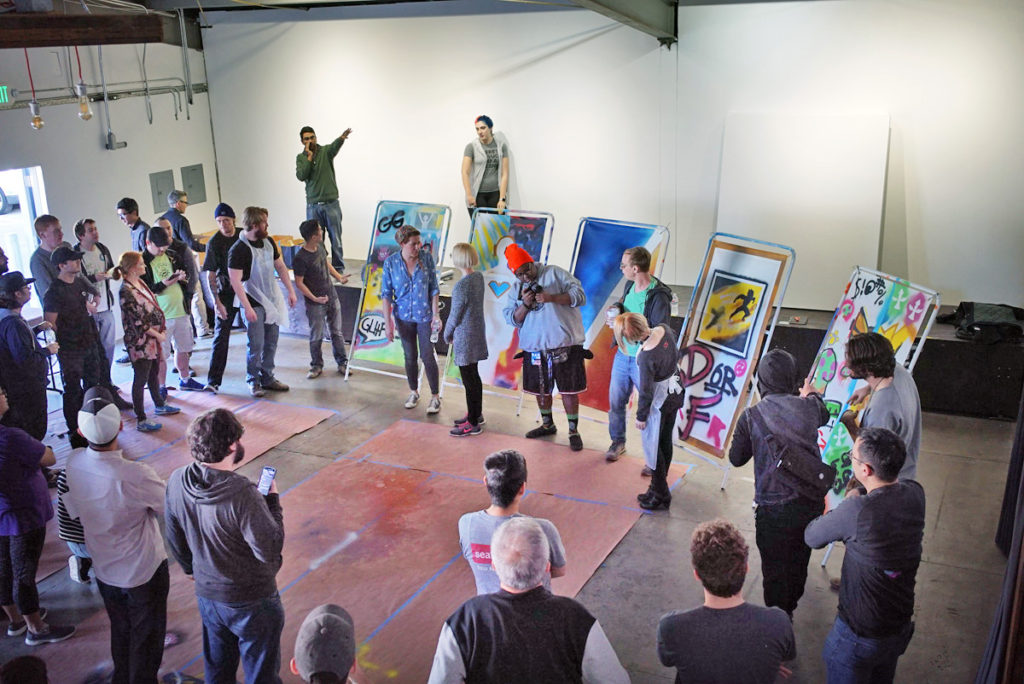 Graffiti street art workshop for riot games in los angeles for Craft workshops los angeles