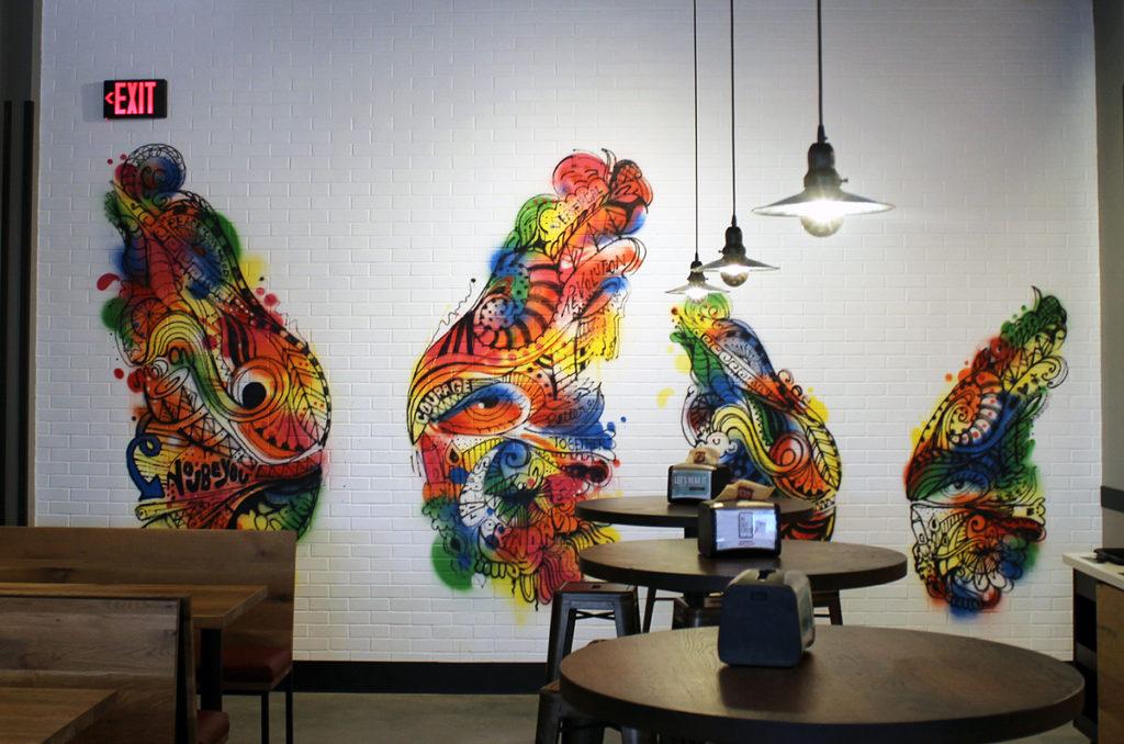 interactive graffiti photo ops