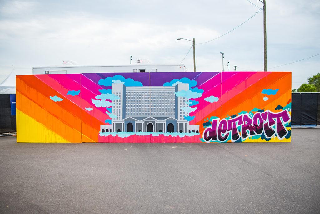 Live Mural Artist in Detroit