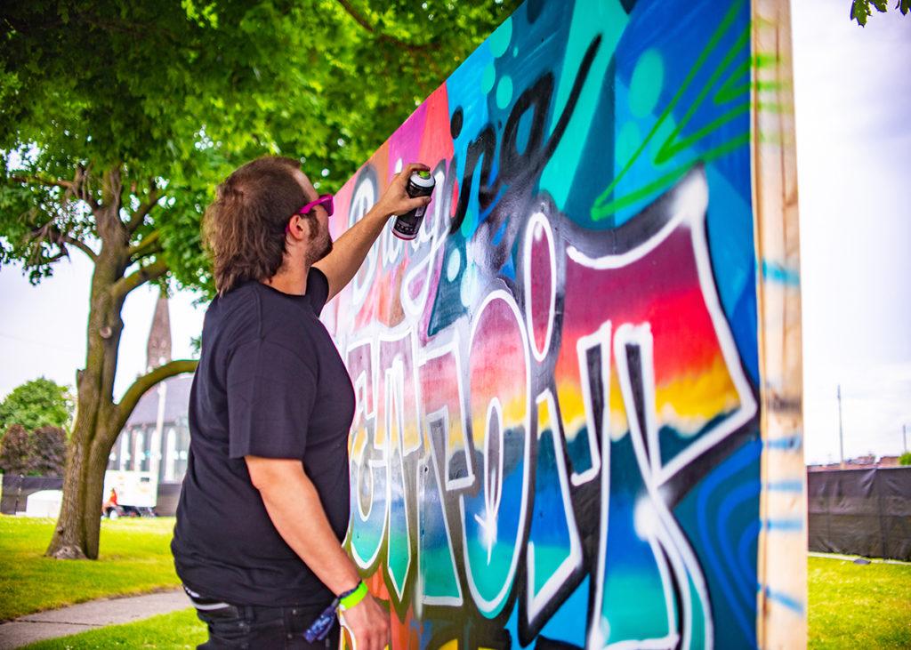 Detroit Live Graffiti Artist